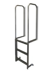 EGA 2 Step Aluminum Loading Dock Ladders