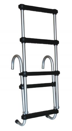 5 Step Removable Amp Folding Pontoon Ladders