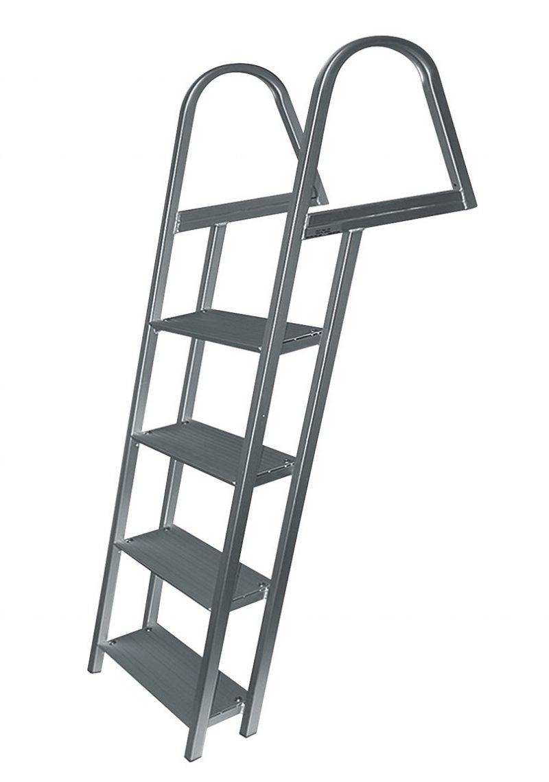 4 Step Angled Anodized Aluminum Dock Ladders