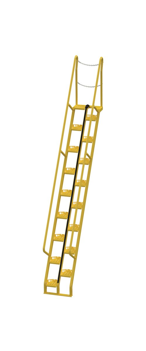 Amazing 11 Ft Alternating Tread Stair Ladders, 56° Angle