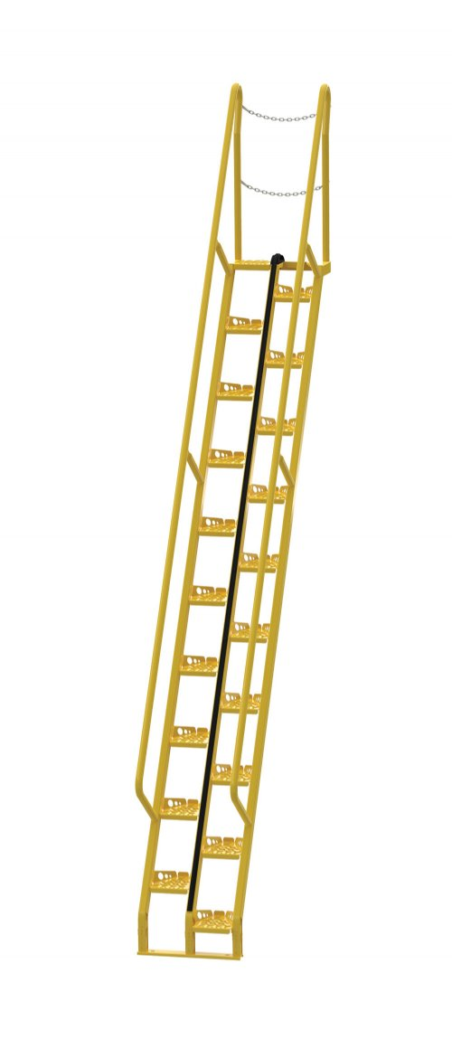 12 Ft Alternating Tread Stair Ladders, 56° Angle
