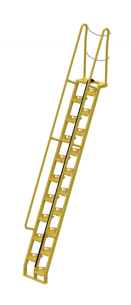 Attractive 12 Ft Alternating Tread Stair Ladders, 68° Angle