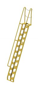 12 ft Alternating Tread Stair Ladders, 68° Angle