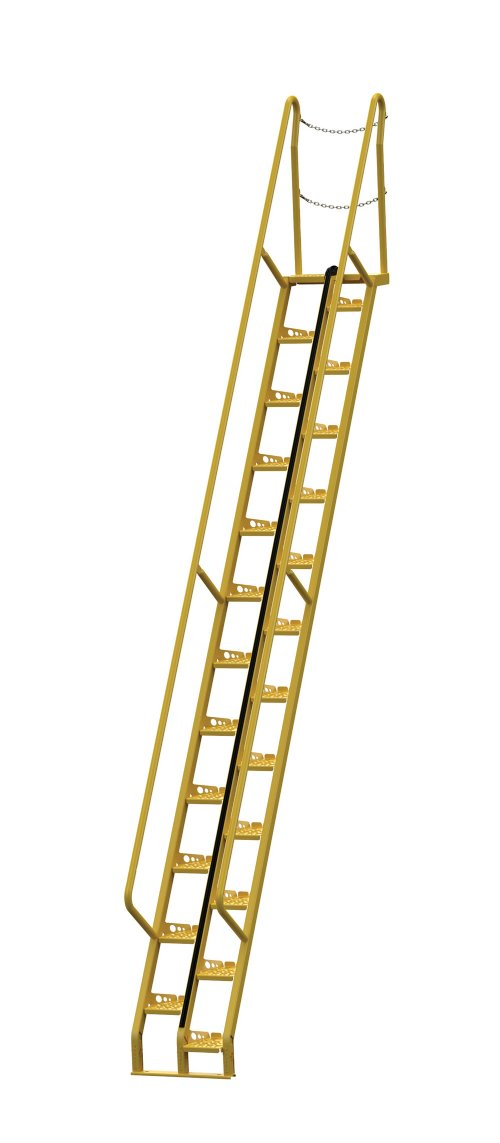 Attirant 14 Ft Alternating Tread Stair Ladders, 56° Angle