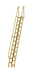14 ft Alternating Tread Stair Ladders, 56° Angle