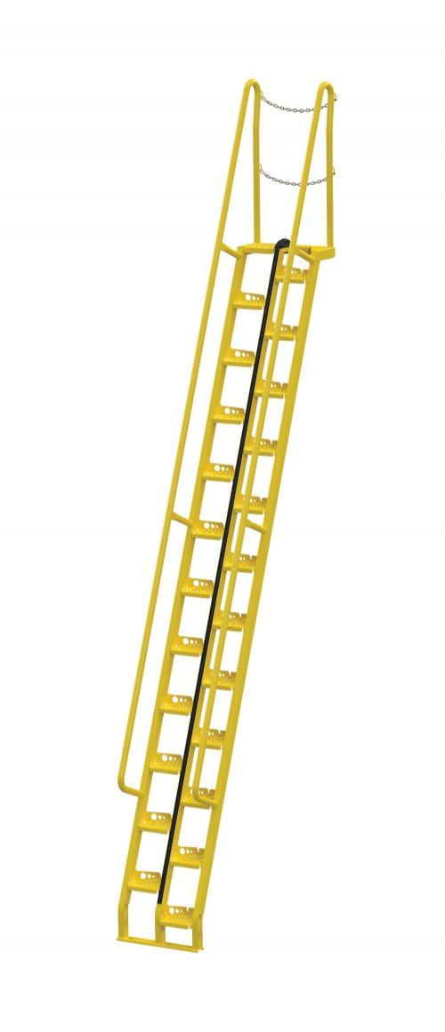 14 Ft Alternating Tread Stair Ladders, 68° Angle