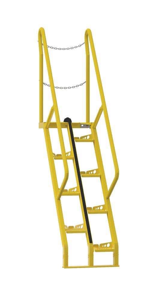 5 Ft Alternating Tread Stair Ladders, 56° Angle
