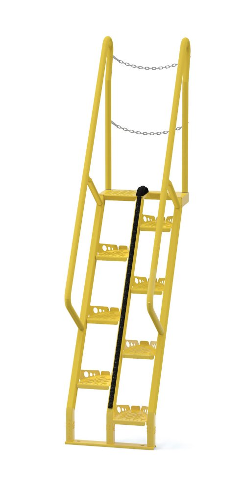 5 Ft Alternating Tread Stair Ladders, 68° Angle