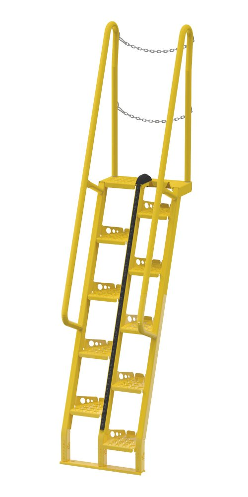 10 Ft Alternating Tread Stair Ladders, 68° Angle