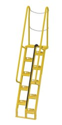 6ft Alternating Tread Stair Ladders, 68° Angle