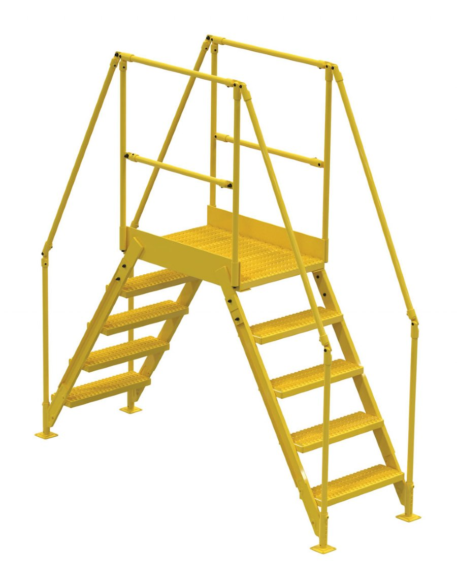 5 Step Crossover Ladders With 36 In Long Platform