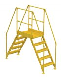 "5 Step Cross-over Ladders, with 36"" Long Platform"