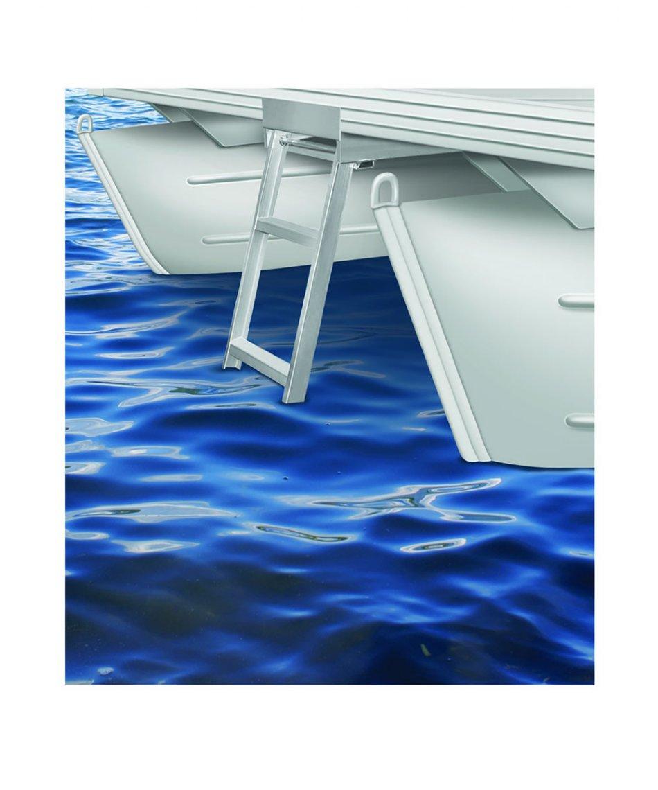 5 Step Flat Front Under Deck Pontoon Ladders
