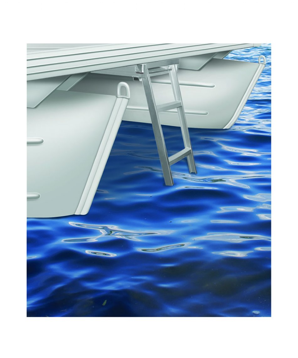 4 Step Round Front Under Deck Pontoon Ladders