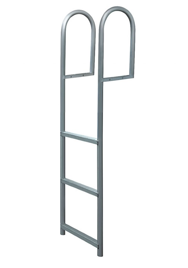 4 Step Anodized Aluminum Straight Dock Ladders