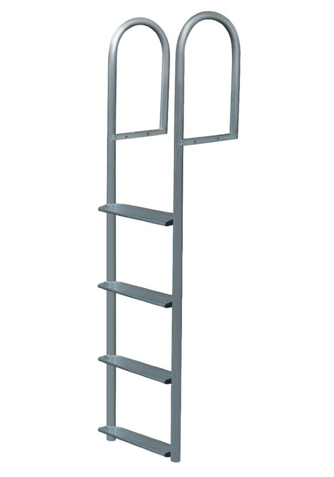 5 Step Wide Step Anodized Aluminum Straight Dock Ladders