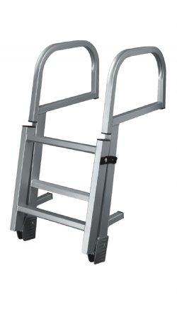 3 Step Folding Pontoon Ladders Dockladdersdepot Com