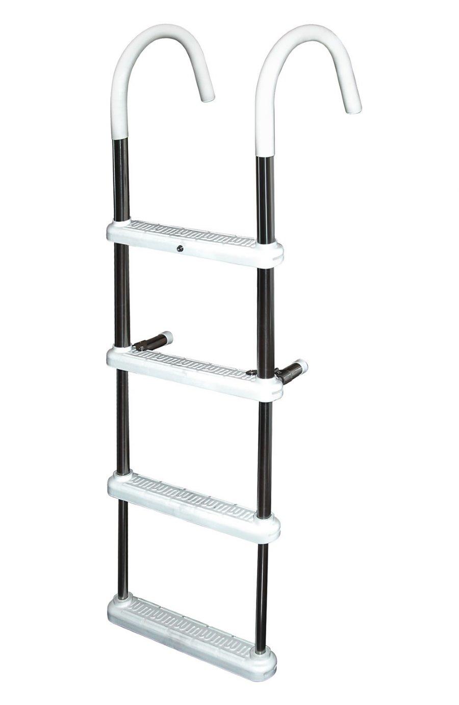 4 Step Stainless Steel 11 Quot Gunwale Hook Ladders
