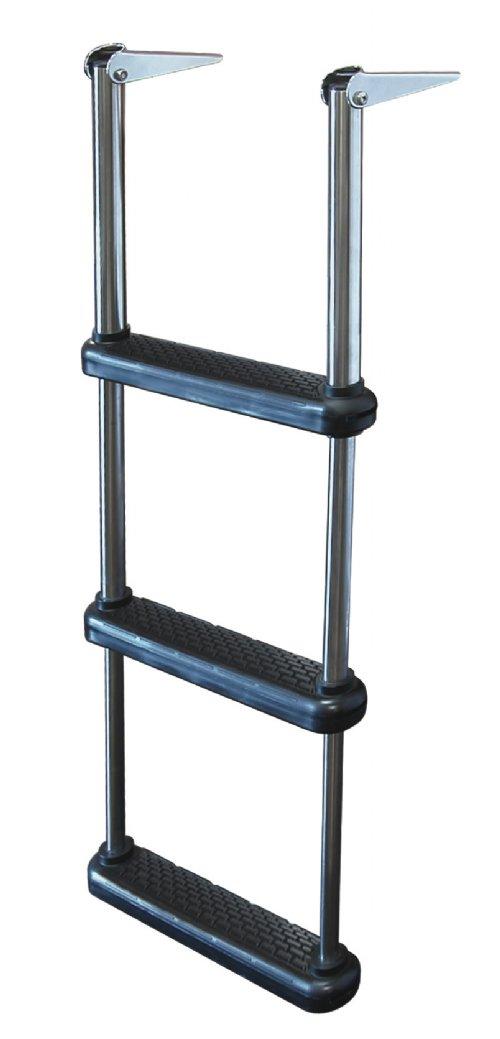 3 Step Stainless Steel Telescoping Drop Ladders