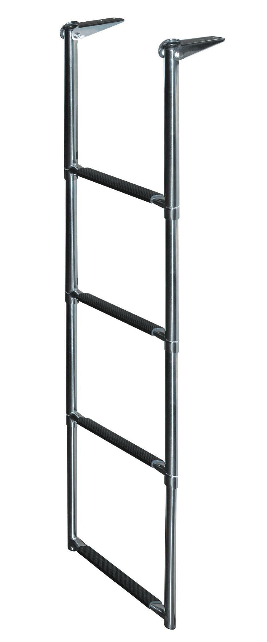 4 Step Stainless Steel Telescoping Transom Drop Ladders