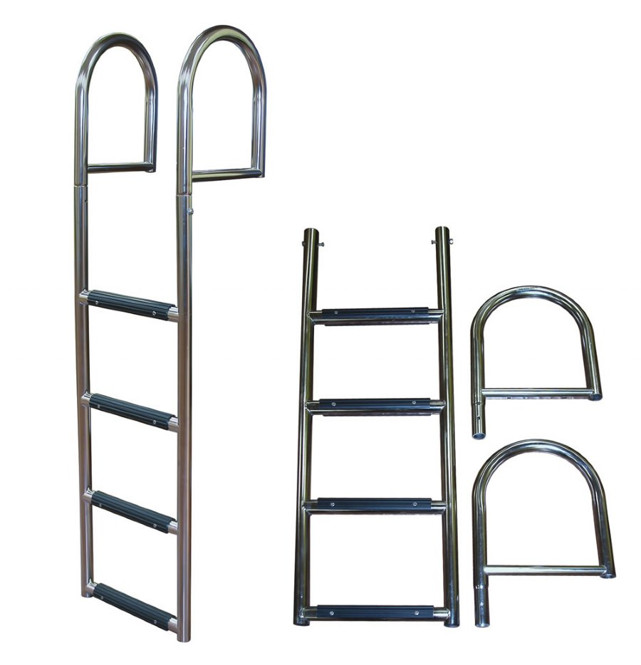 5 Step Stainless Steel Stationary Dock Ladders