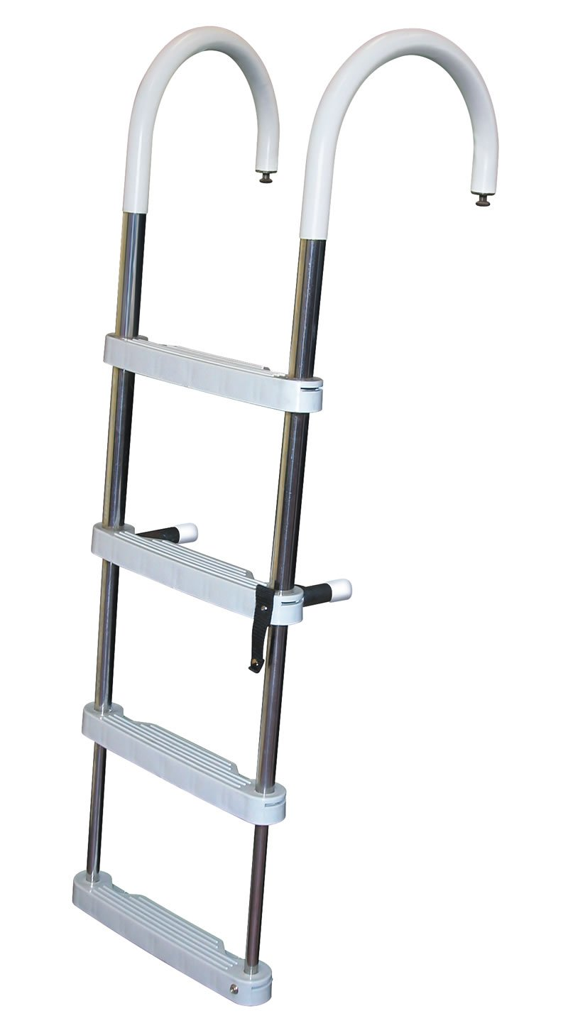 4 Step Stainless Steel Telescoping Pontoon Ladders