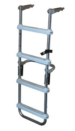 4 Step Folding Pontoon Deck Ladders Dockladdersdepot Com