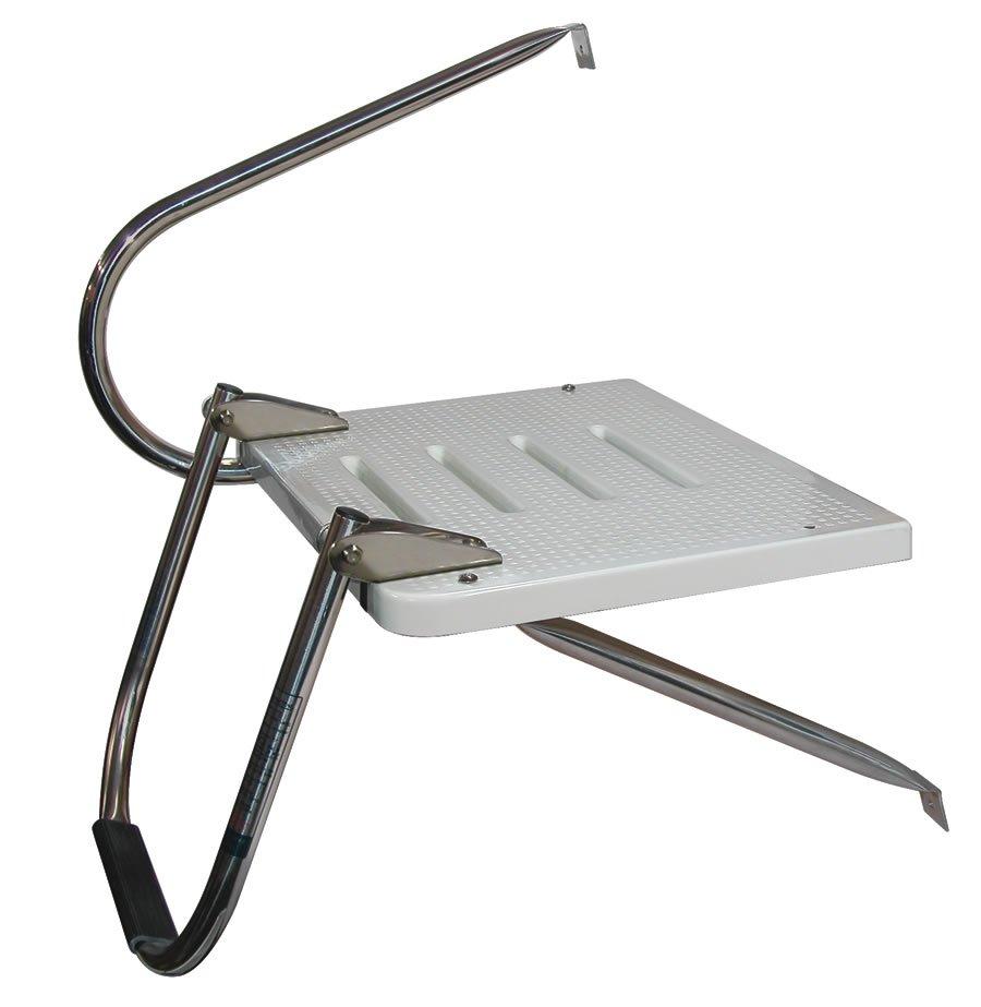 Single Step Stainless Steel O B Transom Platform Ladders