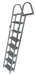 7 Step Folding Angled Dock Ladders