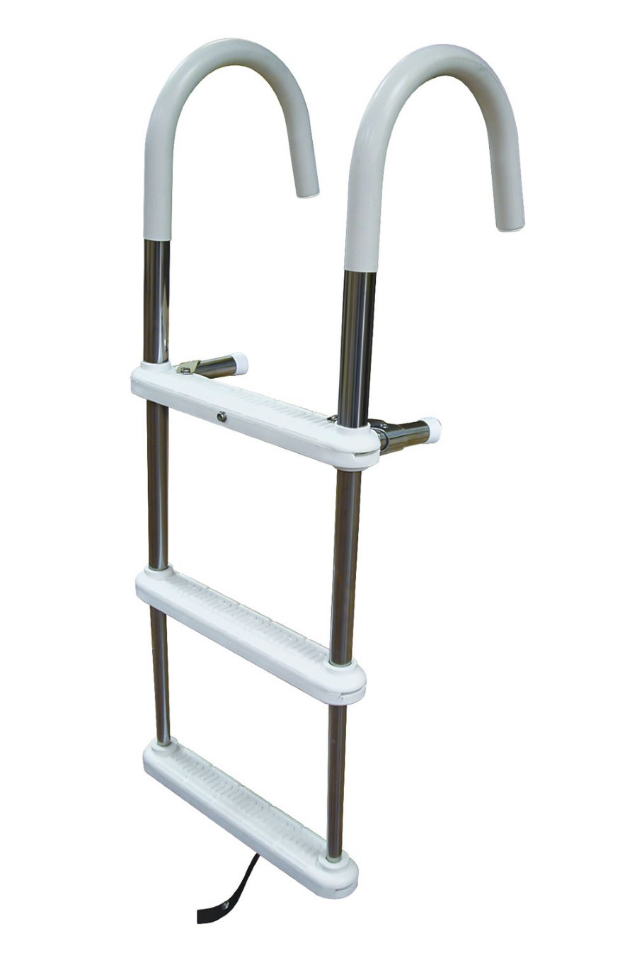 4 Step Stainless Steel Telescoping Gunwale Hook Ladders