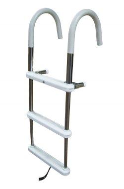 4 Step Stainless Steel Telescoping Gunwale Hook Ladders