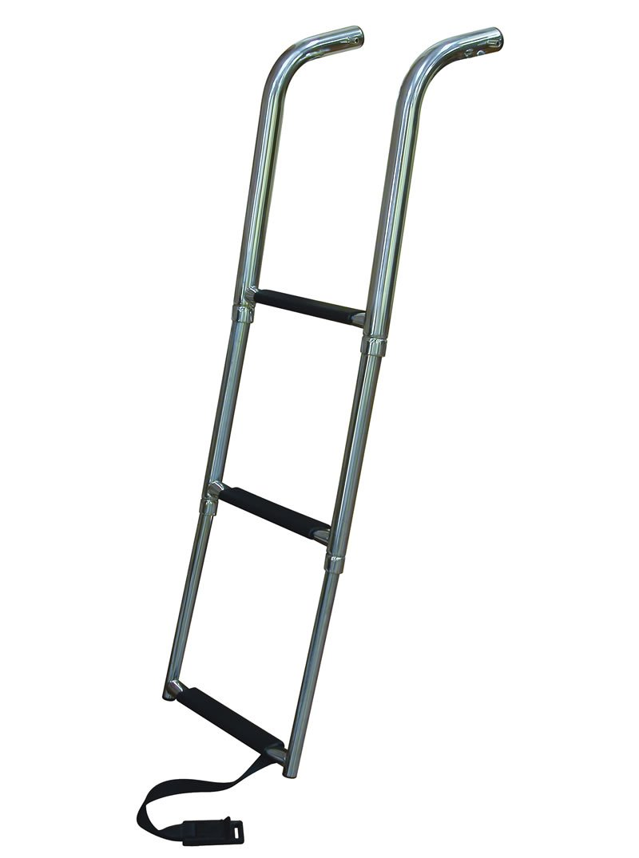 Telescoping Step Ladder : Step under platform telescoping boat ladders