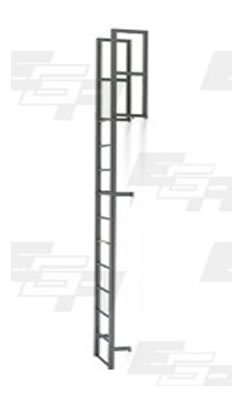 20 Step Steel Vertical Walk Through Ladders