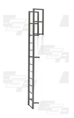 16 Step Steel Vertical Walk Through Ladders 16 Step Wall