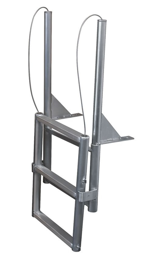 4 Step Wide Step Anodized Aluminum Floating Dock Lift