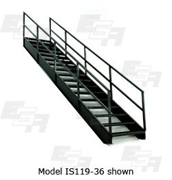 EGA Products 7 Step Steel Industrial Stairways