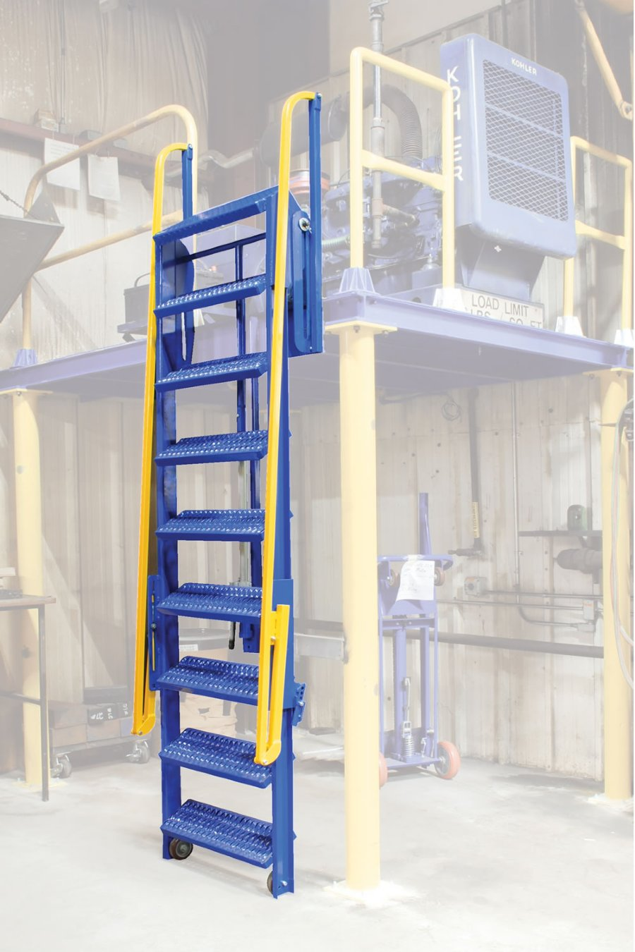 9 Step Folding Mezzanine Ladders