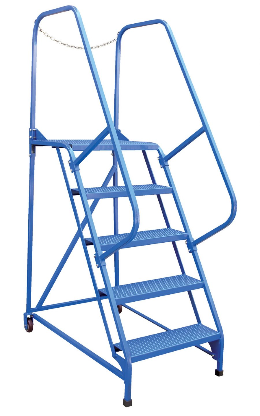 5 Step Portable Maintenance Ladders With Perforated Steps