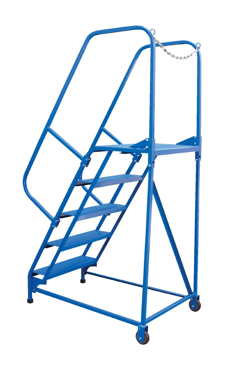 5 Step Portable Maintenance Ladder With Grip Strut Steps