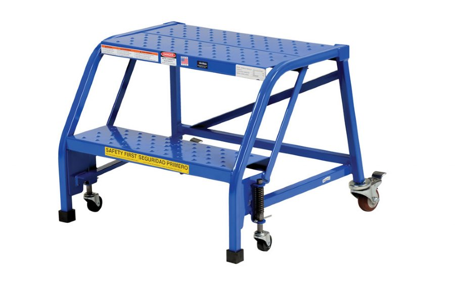 Portable Stairs With Handrail : Step portable warehouse ladder with no handrail and