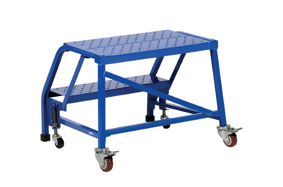 3 Step Portable Warehouse Ladder With No Handrail And 18