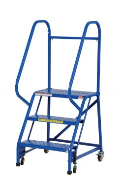 3 Step Portable Warehouse Ladders With 26 Quot Wide Perforated