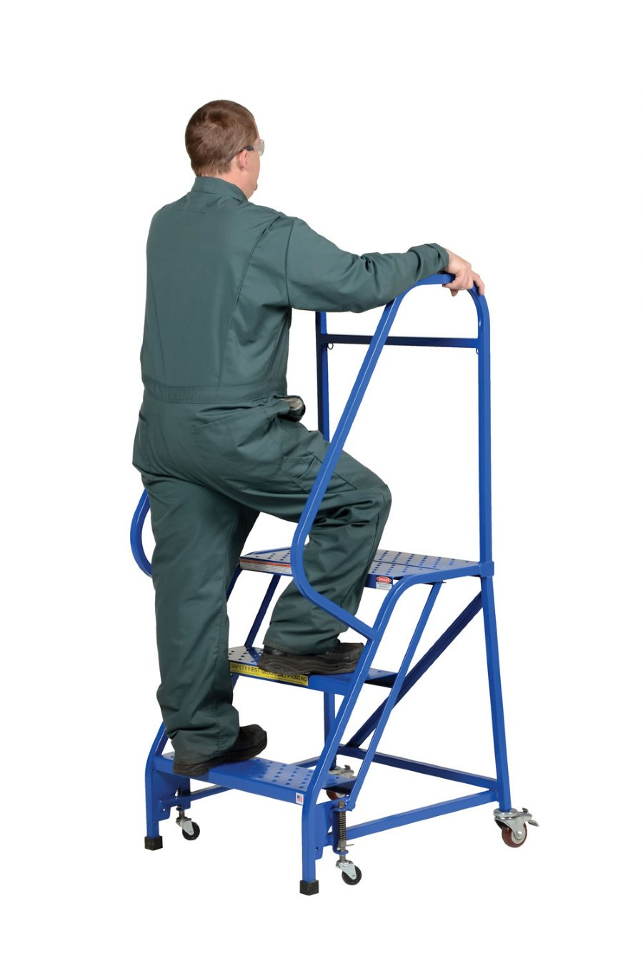 6 Step Portable Warehouse Ladders With 18 Quot Wide Perforated