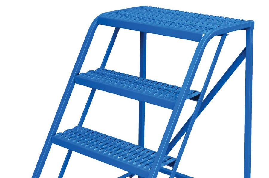 3 Step Portable Warehouse Ladder With No Handrail And 32
