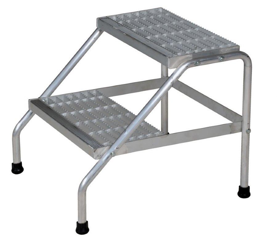 2 Step Bolt Together Aluminum Step Stand 2 Step Aluminum Step Stands Portable Aluminum Step Stands Dockladdersdepot Com