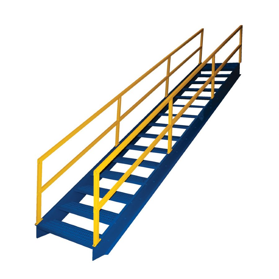 Elegant 7 Step Modular Steel Stairways