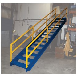 Captivating 14 Step Modular Steel Stairways