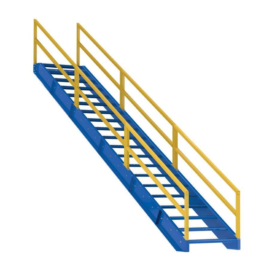 20 Step Modular Steel Stairways 20 Step Industrial Steel
