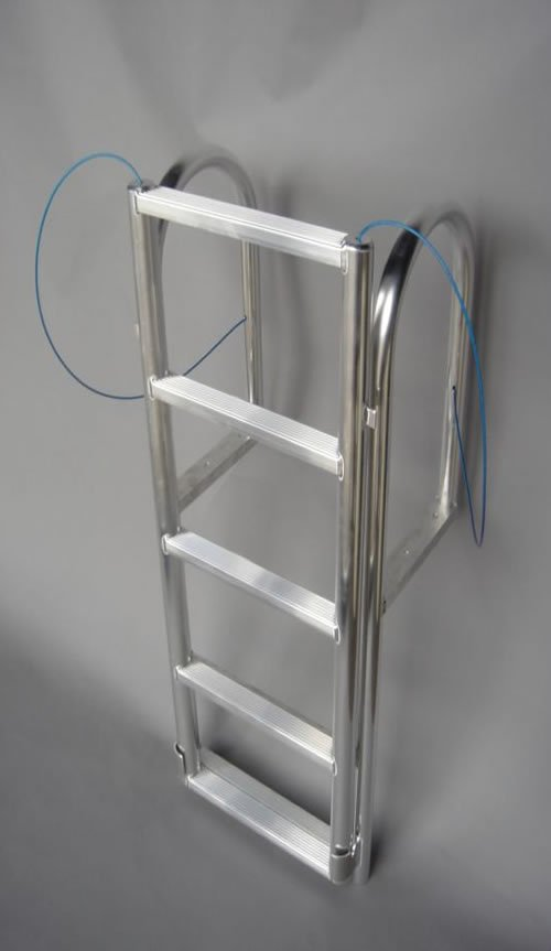 5 Step Wide Step Lifting Amp Retractable Dock Ladders