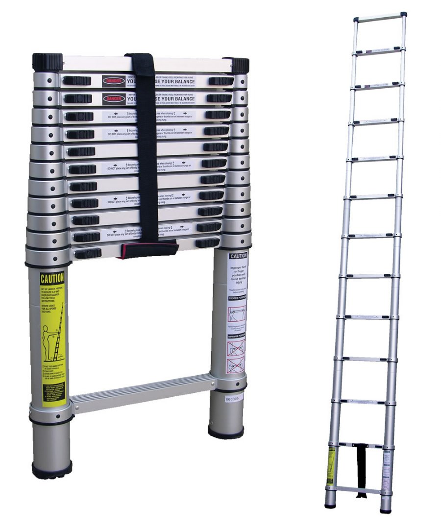 Aluminum Telescopic Ladder : Step aluminum telescoping ladders commercial